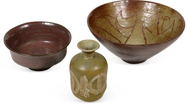Ceramic Pieces, Set of 3, II