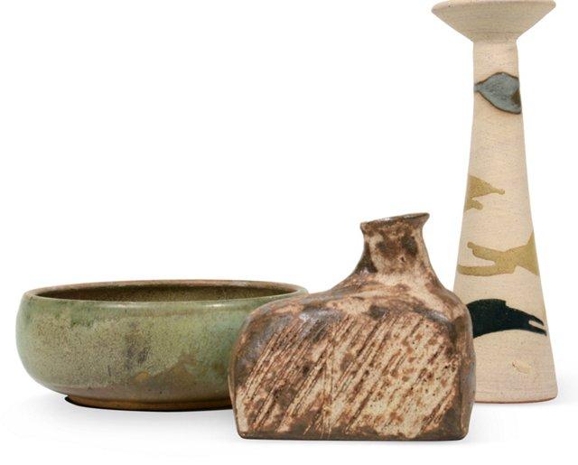 Ceramic Pieces, Set of 3, IV
