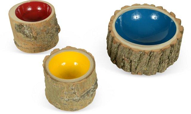 Log Bowls, Set of 3, II