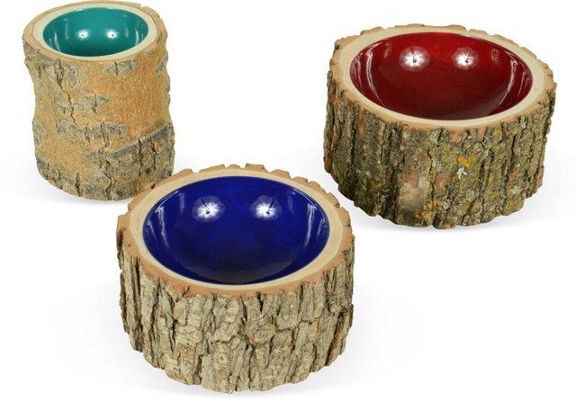Log Bowls, Set of 3, III