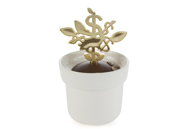 Money Tree Coin Bank, Gold