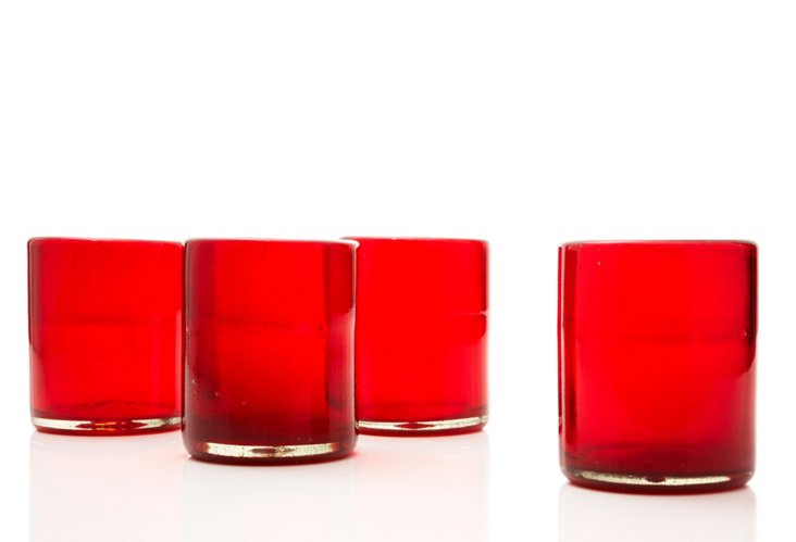 S/4 Tumblers, Red