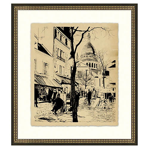 Vintage Parisian Etchings VI