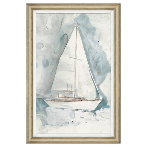 "Whitewashed Yacht I, 31"" x 46"""