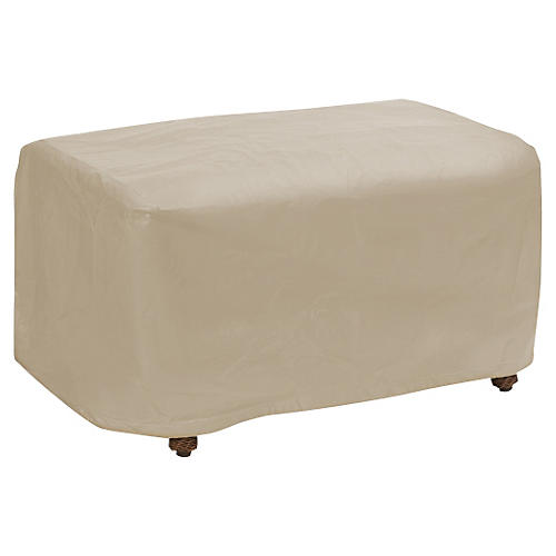 Large Ottoman Cover, Tan