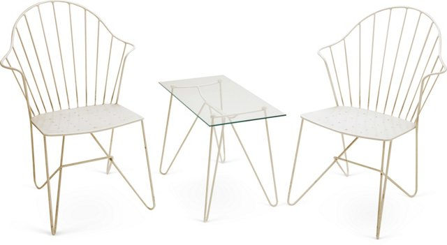 Garden Table & 2 Chairs Set