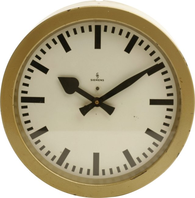 1950s Siemens Spade Clock