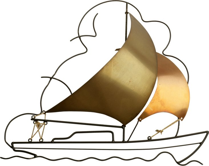Welded Sailboat Sculpture