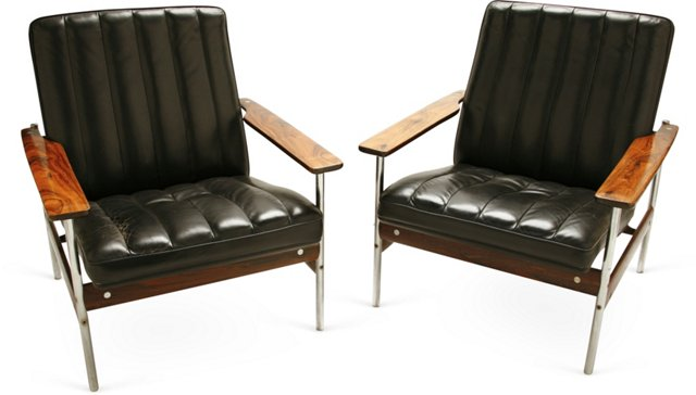 Sven Ivar Dysthe Lounge Chairs, Pair