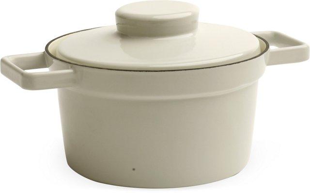 Gray RIESS Lidded Pot, Medium