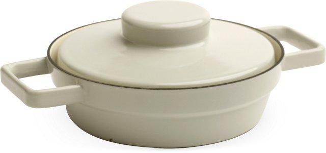 Gray RIESS Lidded Pan, Medium