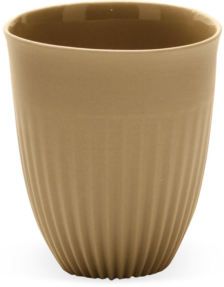 Small Porcelain Alice Beaker Cup, Sand