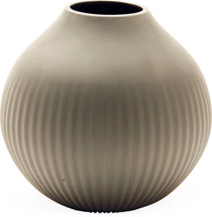 Feinedinge Alice Medium Vase, Gray