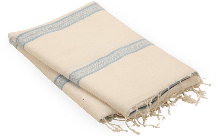 Sidamo Wrap, Double Blue Stripe