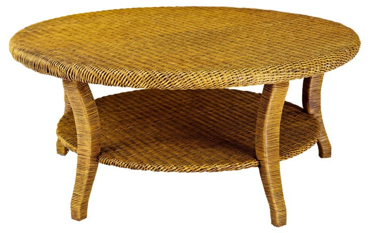 Lido Coffee Table, Straw