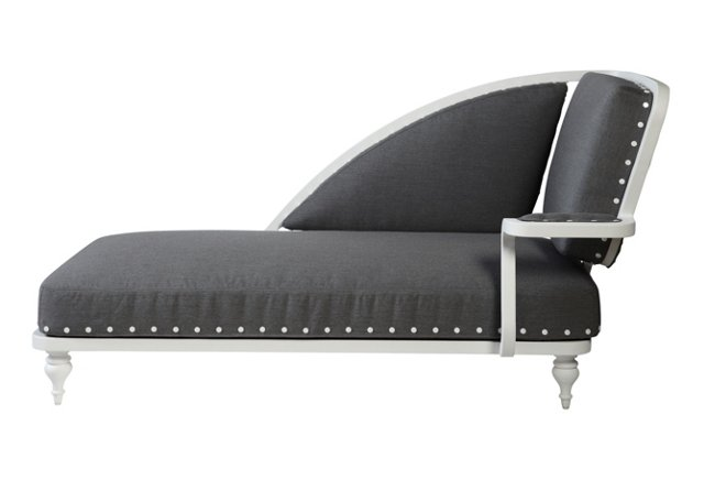 Paris Outdoor Chaise, Right