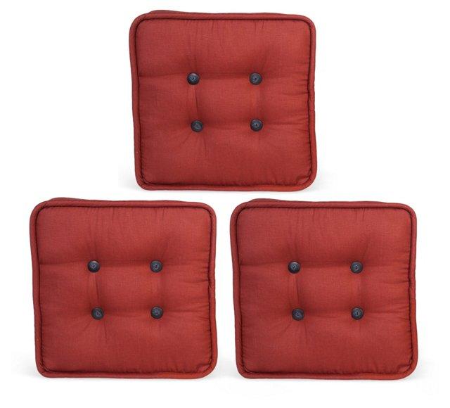 Floor Cushions, Set of 3