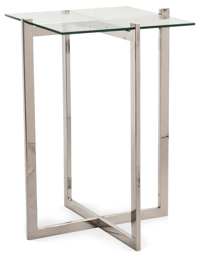 Liv Side Table, Nickel