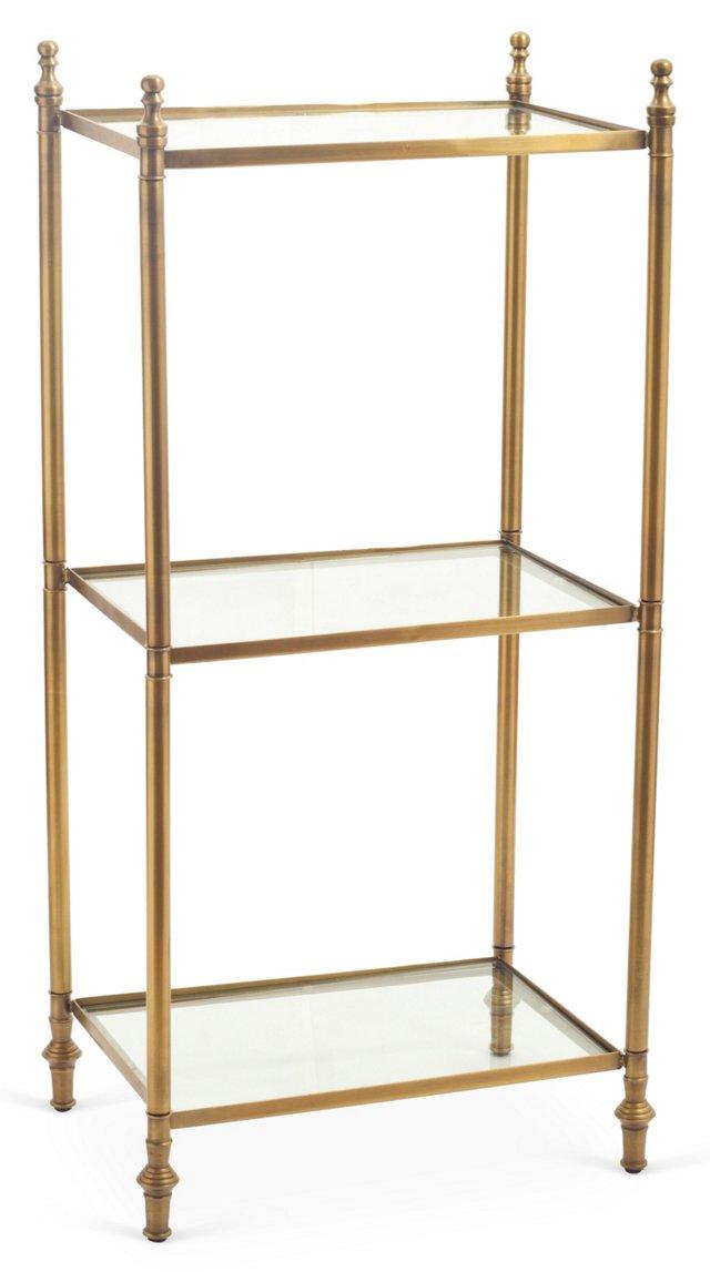 Veronica 3-Tier Shelf, Gold