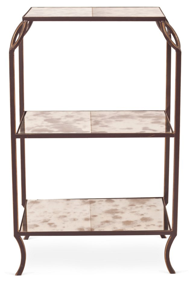 Hunter 3-Tier Side Table, Gold