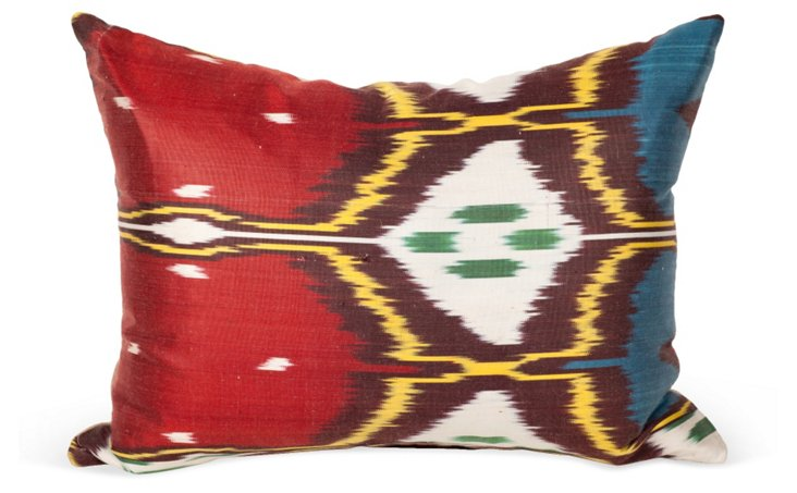 Silk Ikat Pillow I