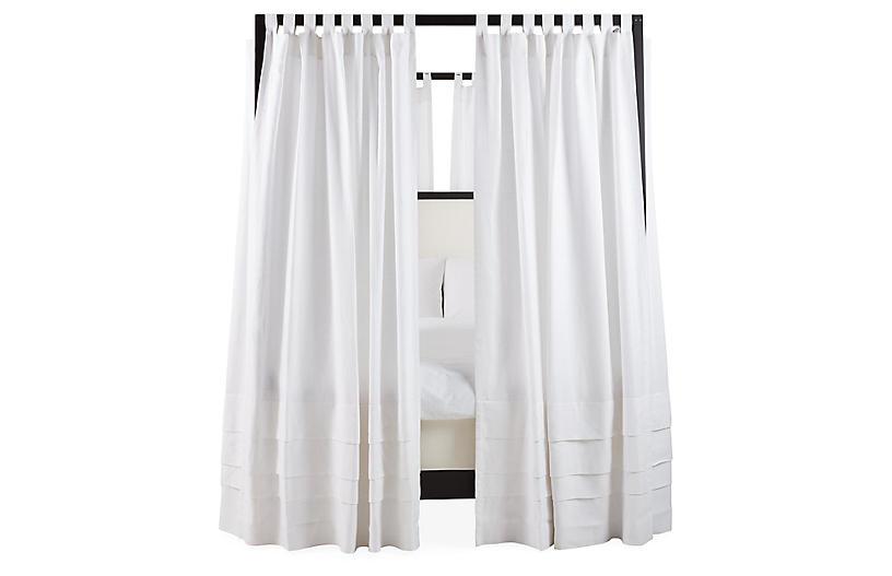 S/8 Nessa Canopy Bed Panels, White Linen