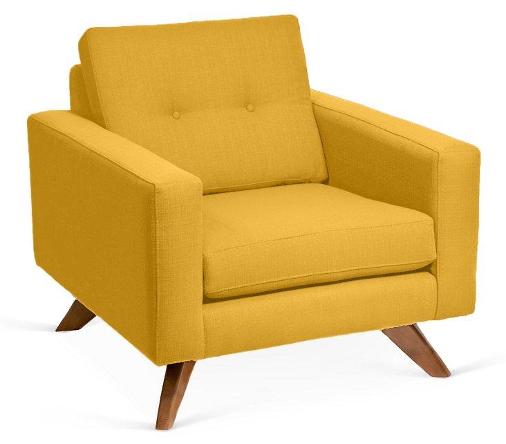 Laura Club Chair, Mustard