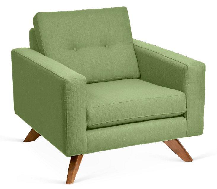 Laura Modern Club Chair, Sweetpea
