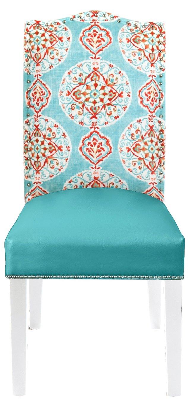 Jana Side Chair, Turquoise