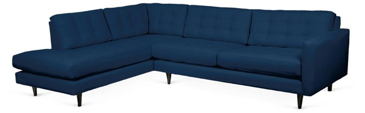 Cynthia Left-Facing Sectional, Navy