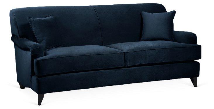 "Eloise 78"" Sofa, Navy"
