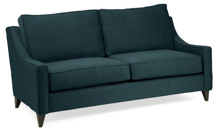 """Ariel 78"""" Sofa, Azure"""
