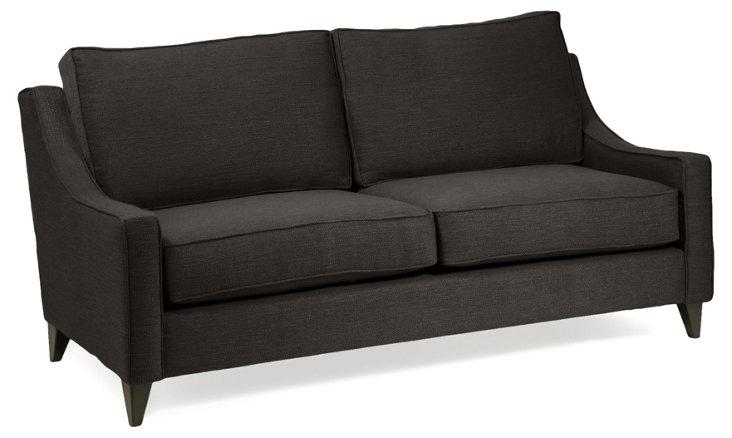 "Ariel 78"" Sofa, Charcoal"