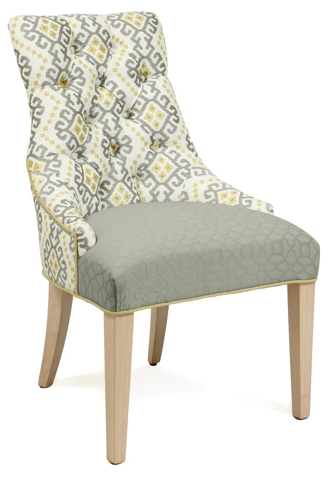Rebecca Chair, Dark Gray/Yellow