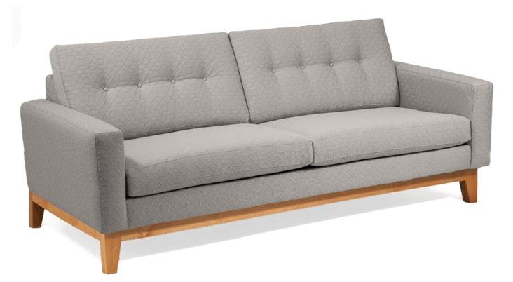 "Julie 83"" Tufted Sofa, Gray"