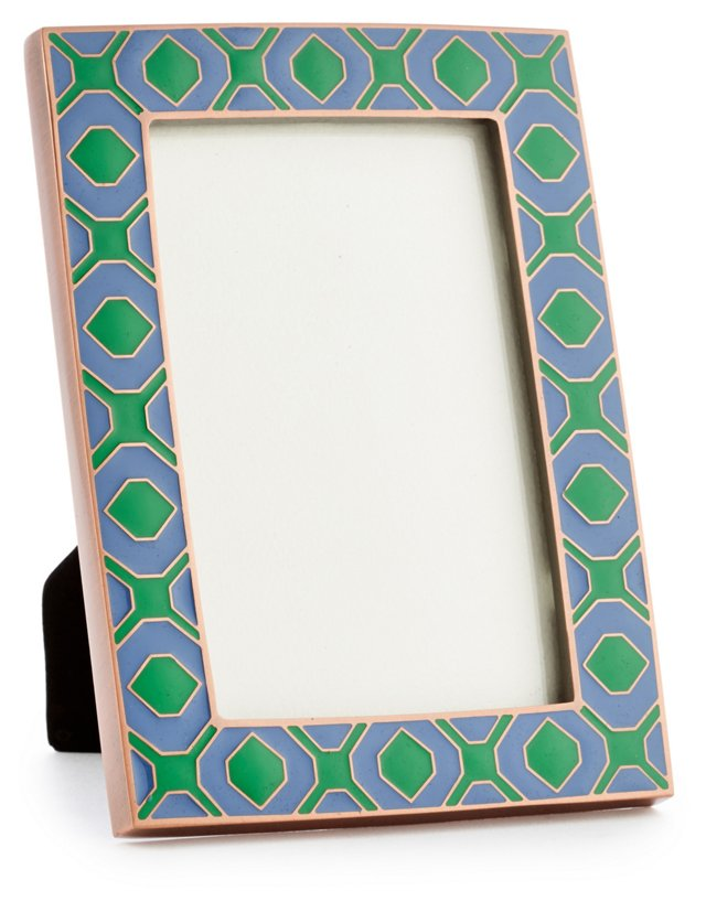 4x6 Geo Metal Frame, Blue/Green