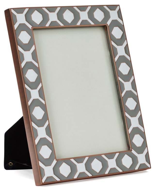 Geometric Metal Frame, 5x7, Silver