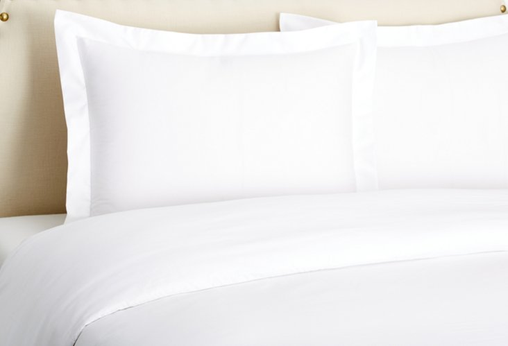 Sateen Duvet Set, White