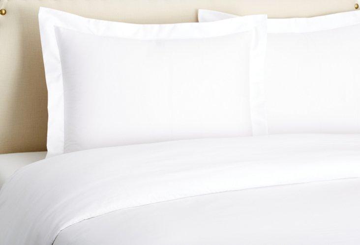 Percale Duvet Set, White