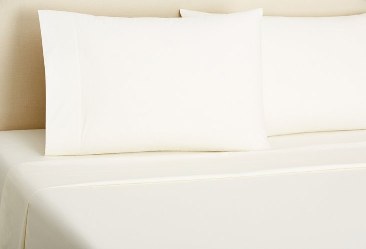 Percale Sheet Set, Ivory