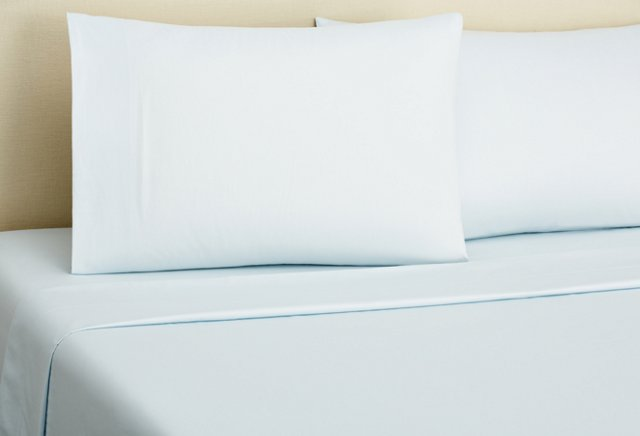 King Classic Percale Sheet Set, Ice Blue
