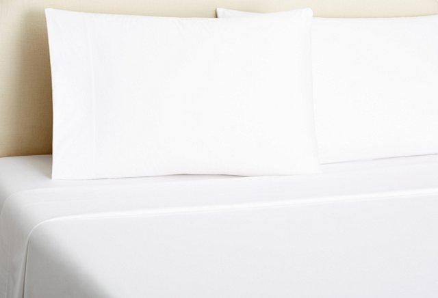 Queen Classic Sateen Sheet Set, White