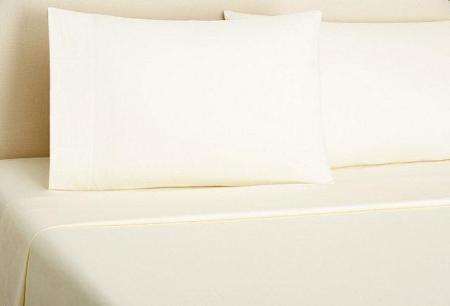 Classic Sateen Sheet Set, Ivory