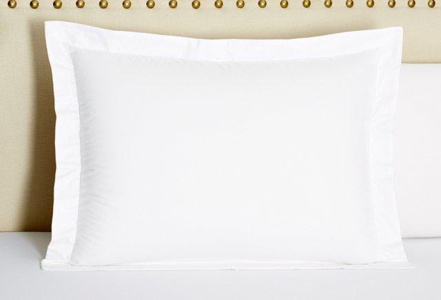 Hemstitch Standard Sateen Sham, White