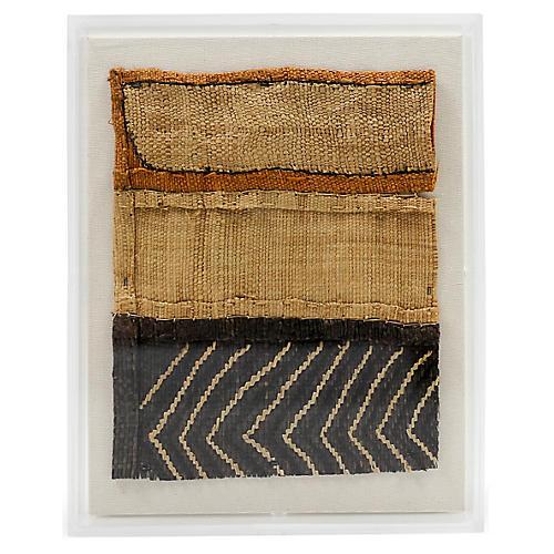 Mini Kuba Cloth I Framed Textile