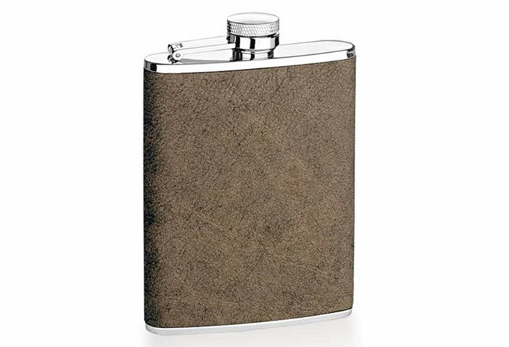Leather Flask, Brown