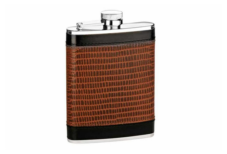 6 oz Hip Flask with Captive Top
