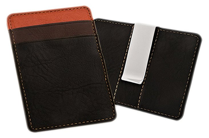 Tonal Money Clip and Card Holder