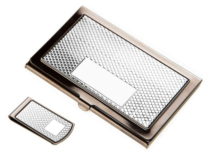 Gunmetal Card Case and Money Clip