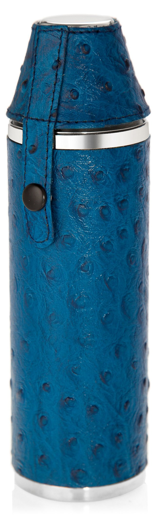 Leather Hunter's Flask, Blue